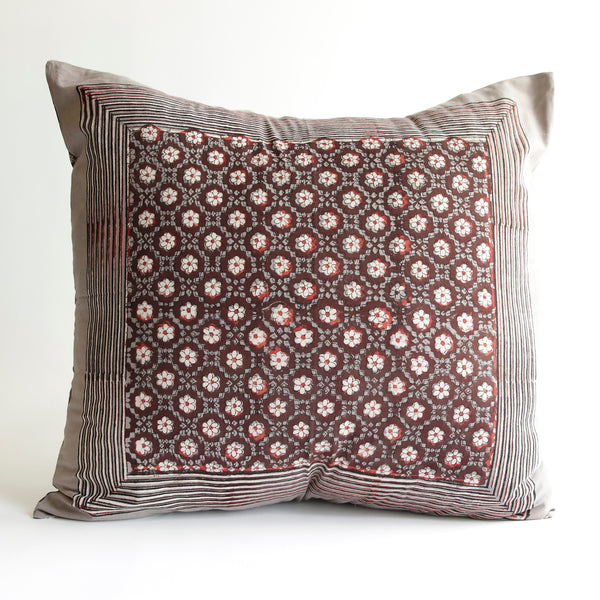 Organic Cotton Cushion Cover - Dabu Daisy