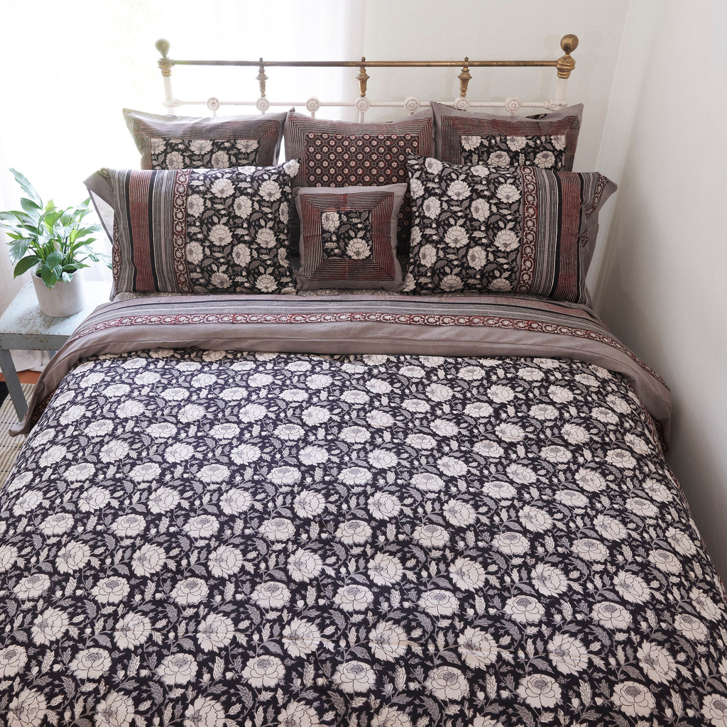 Organic Cotton Duvet  Cover - Dabu Floral