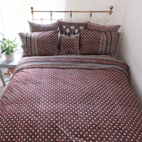 Organic Cotton Duvet  Cover - Dabu Daisy