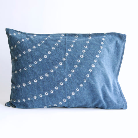 Organic Cotton Pillow Case - Indigo Bandhani