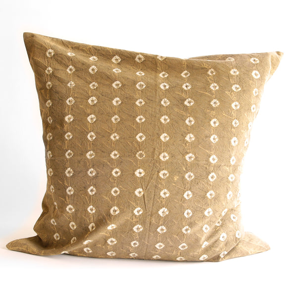 Organic Cotton Cushion Cover - Earth Gold Bandhani