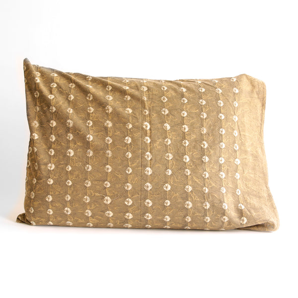 Organic Cotton Pillow Case - Earth Gold Bandhani