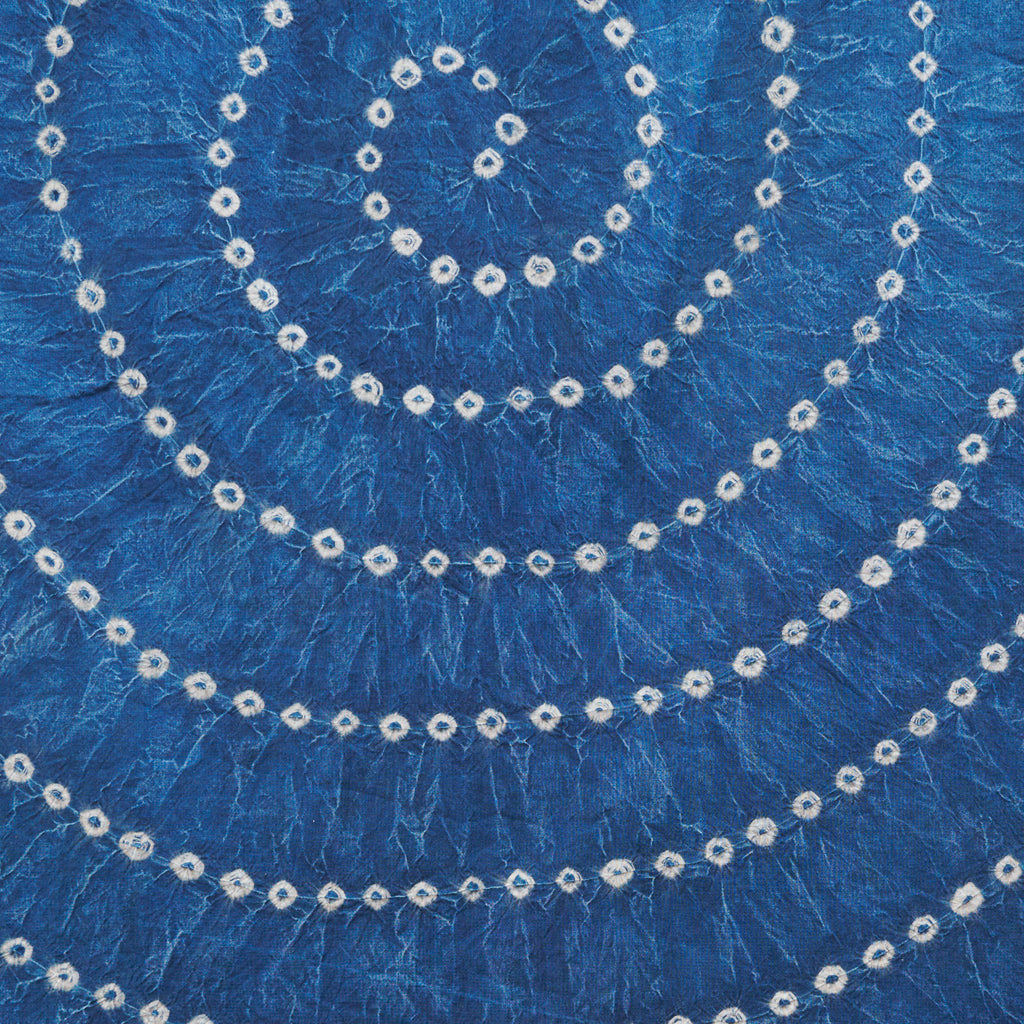Organic Cotton Sheet - Indigo Bandhani