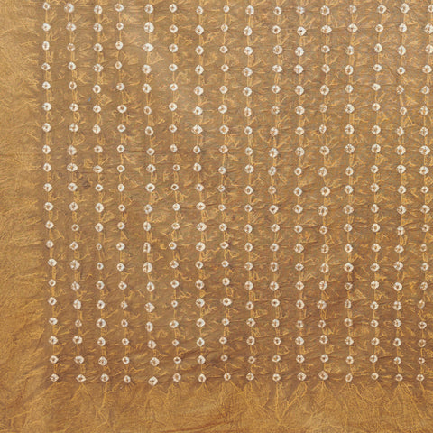 Organic Cotton Sheet - Earth Gold Bandhani