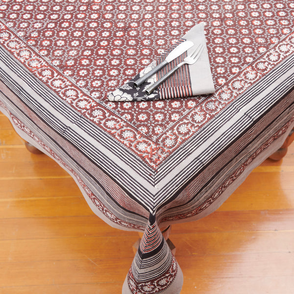 Organic Cotton Tablecloth - Dabu Daisy