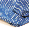 Fabric - Organic Cotton Block Printed with Natural Dyes - Indigo, Floating Triangles