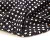 Fabric - Organic Cotton Block Printed with Natural Dyes - Black & Grey, Star Map