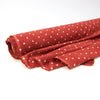 Fabric - Organic Cotton Block Printed with Natural Dyes - Red & White, Polka Dots