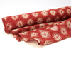 Fabric - Organic Cotton Block Printed with Natural Dyes - Red & Grey, Medallion
