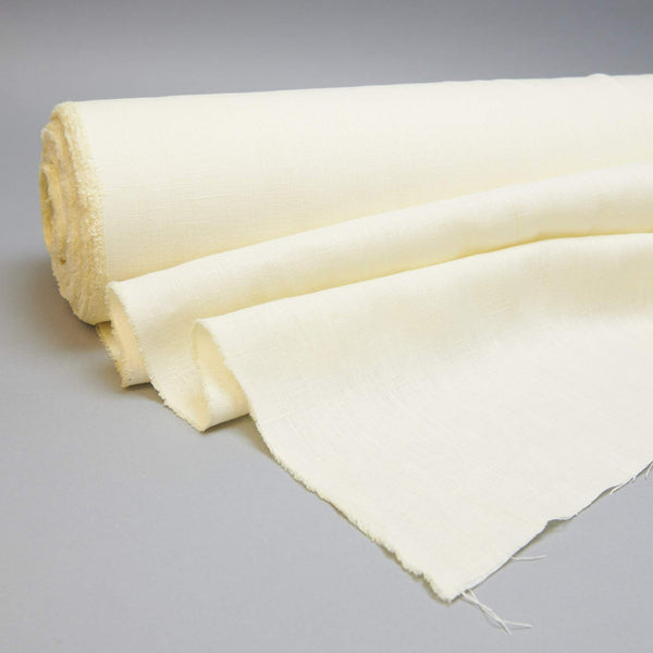 Fabric - Maiwa's Laundered Linen - Butter