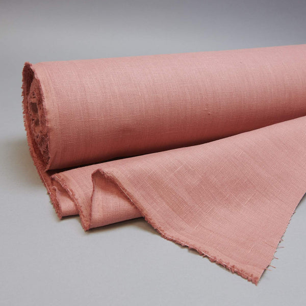 Fabric - Maiwa's Laundered Linen - Coral
