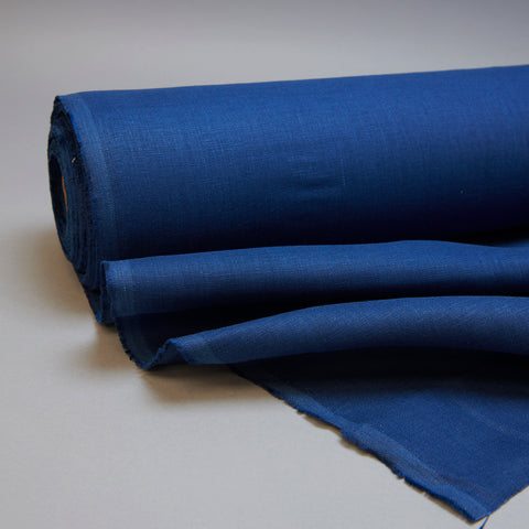 Fabric - Maiwa's Laundered Linen - Navy Blue