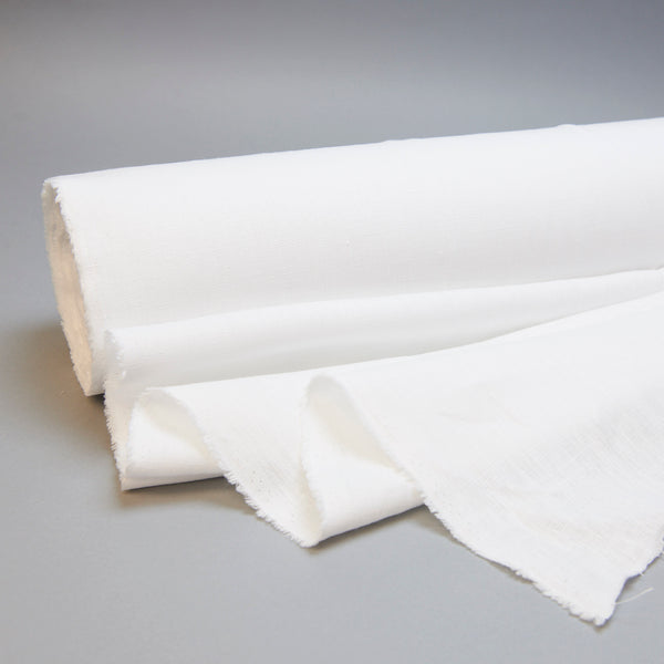 Fabric - Maiwa's Laundered Linen - White