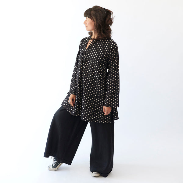 Yayla Kurta - White Polka Dots - Cotton