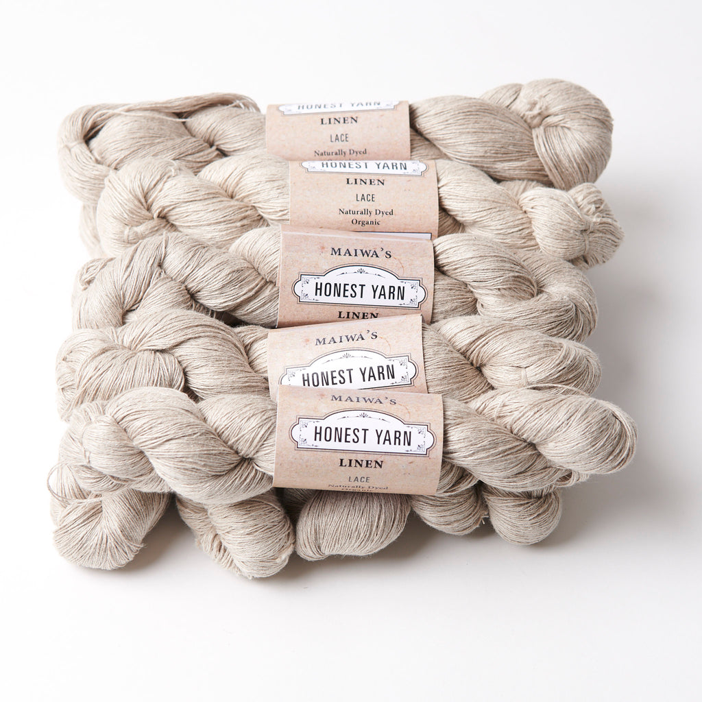 Honest Yarn Blank - Linen Lace / Natural - 10 pack