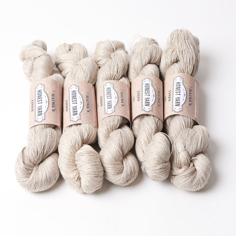 Honest Yarn Blank - Linen Lace / Natural  - 5 pack