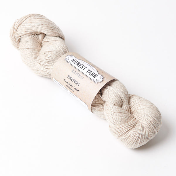 Honest Yarn Blank - Linen Fingering / Natural