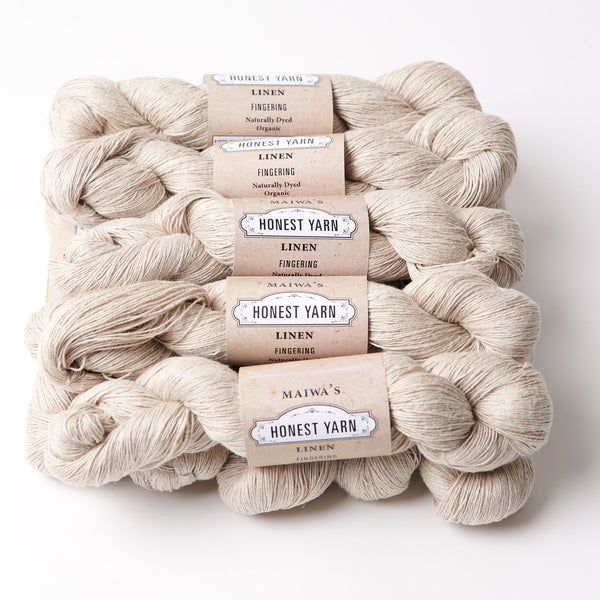 Honest Yarn Blank - Linen Fingering / Natural - 10 pack