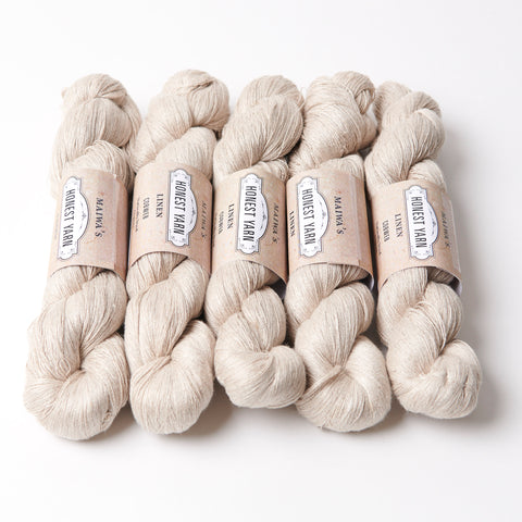 Honest Yarn Blank - Linen Cobweb / Natural  - 5 pack