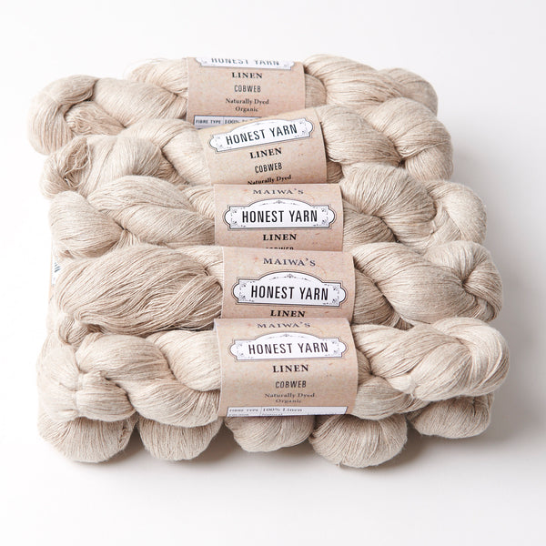 Honest Yarn Blank - Linen Cobweb / Natural - 10 pack