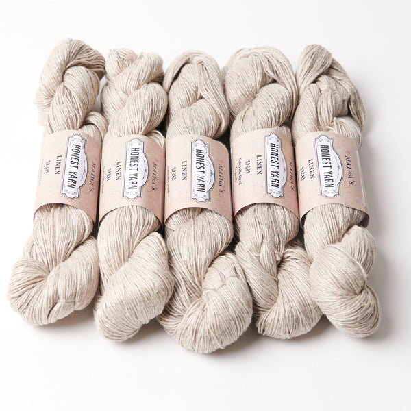 Honest Yarn Blank - Linen Sport / Natural  - 5 pack
