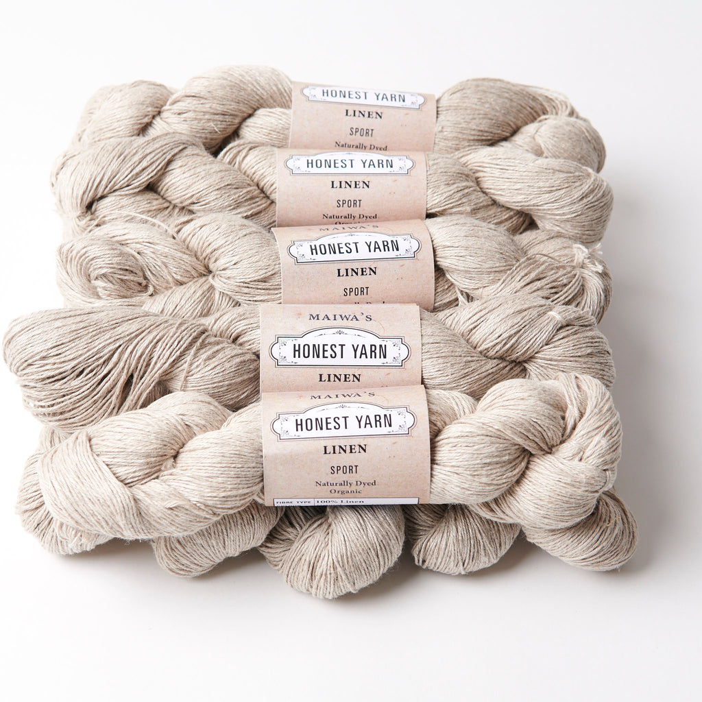 Honest Yarn Blank - Linen Sport / Natural - 10 pack