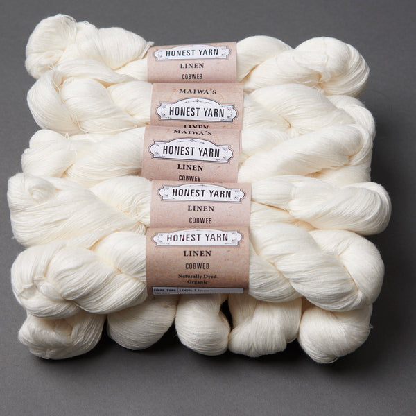 Honest Yarn Blank - Linen Cobweb / White - 10 pack