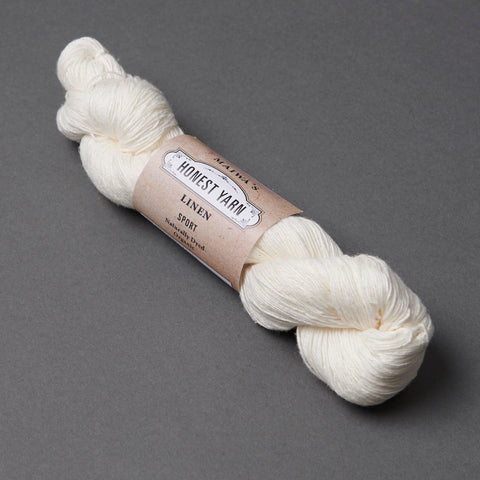 Honest Yarn Blank - Linen Sport / White