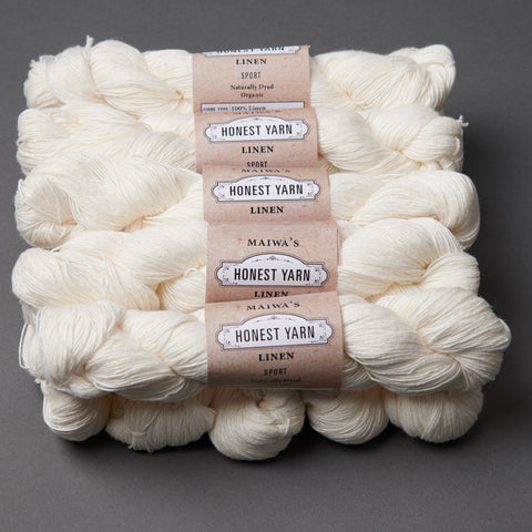 Honest Yarn Blank - Linen Sport / White - 10 pack