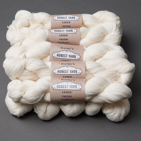 Honest Yarn Blank - Linen Fingering / White - 10 pack