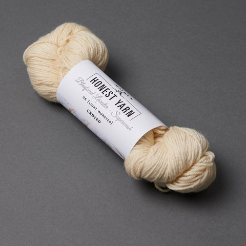 Honest Yarn Blank - Wool BFL Superwash DK / Natural