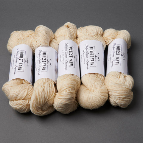 Honest Yarn Blank - Wool BFL Superwash DK / Natural - 5 pack