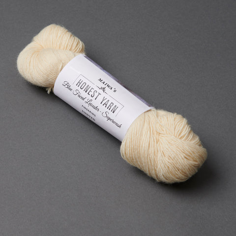 Honest Yarn Blank - Wool BFL Superwash Fingering / Natural