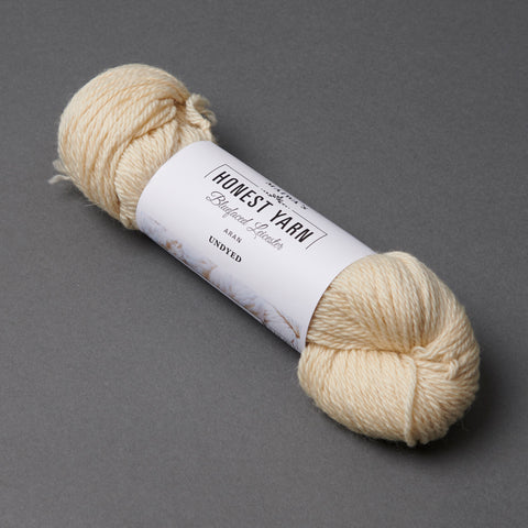 Honest Yarn Blank - Wool BFL Superwash Aran / Natural