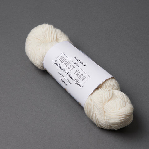 Honest Yarn Blank - Wool Merino Fingering / White