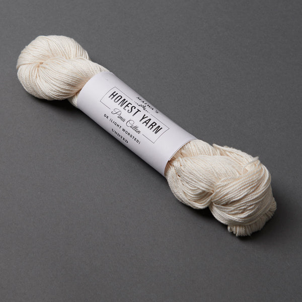 Honest Yarn Blank - Cotton DK / White