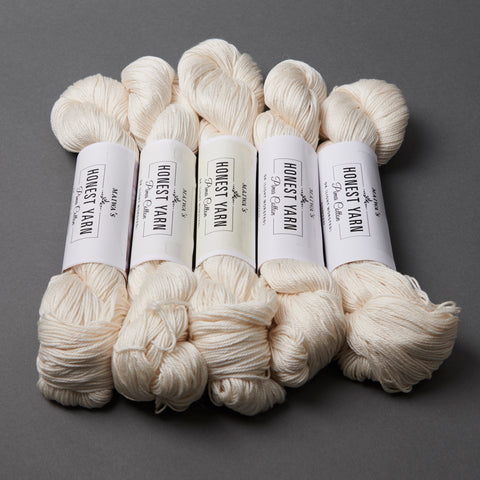 Honest Yarn Blank - Cotton DK / White - 5 pack