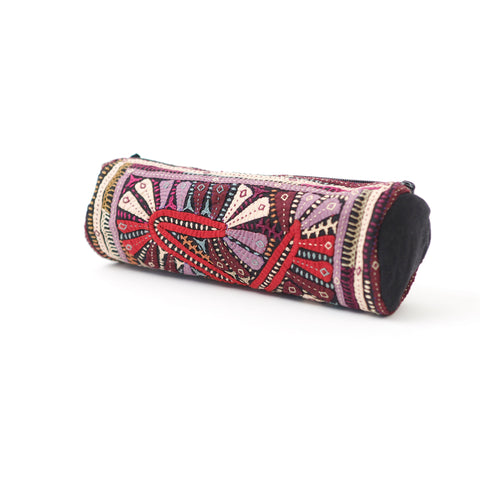 Kachchh Embroidery - Cylinder Pouch - Dhebaria Pattern C