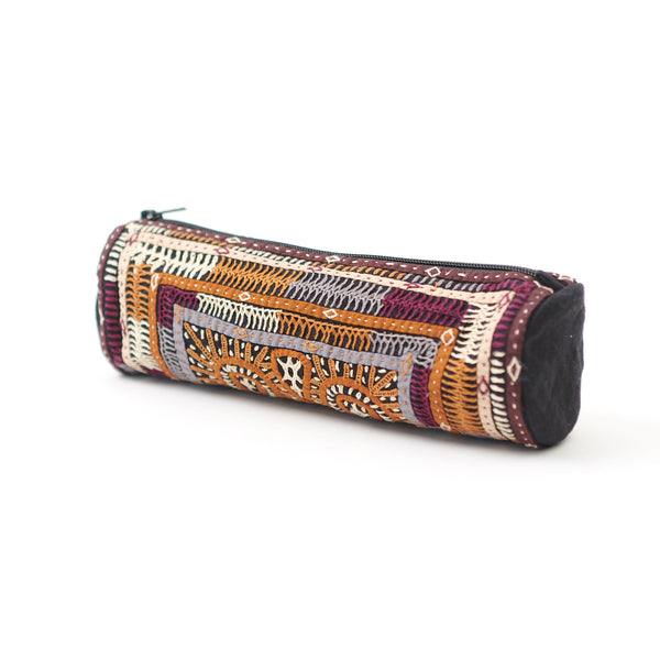 Kachchh Embroidery - Cylinder Pouch - Dhebaria Pattern D