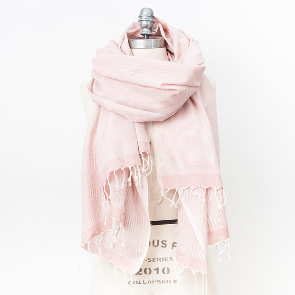 Classic Cotton Shawl - Vintage Rose