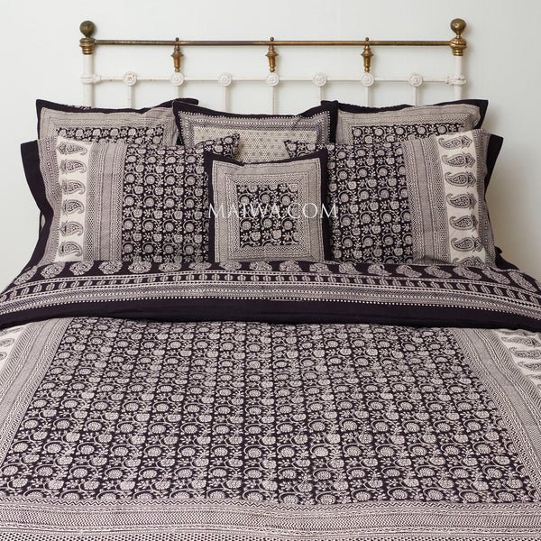 Organic Cotton King Duvet - Bagh Print - Small Floral