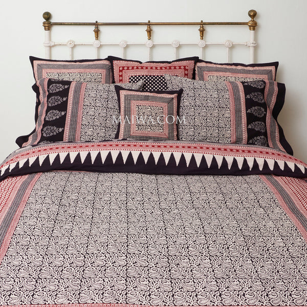 Organic Cotton King Duvet - Stylized Paisley