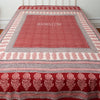 Organic Cotton Queen Sheet - Bagh Print - Red & White Dot
