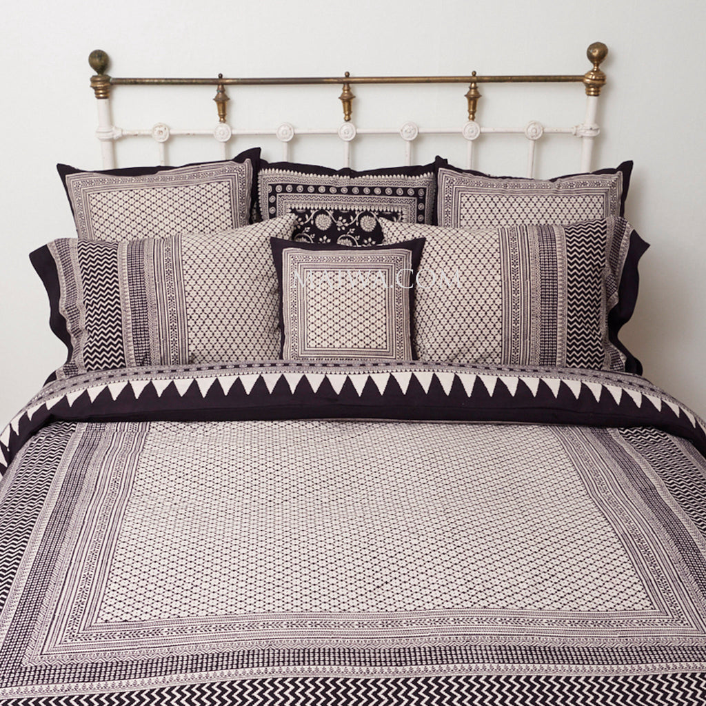 Organic Cotton Queen Duvet - Bagh Print - Diamond