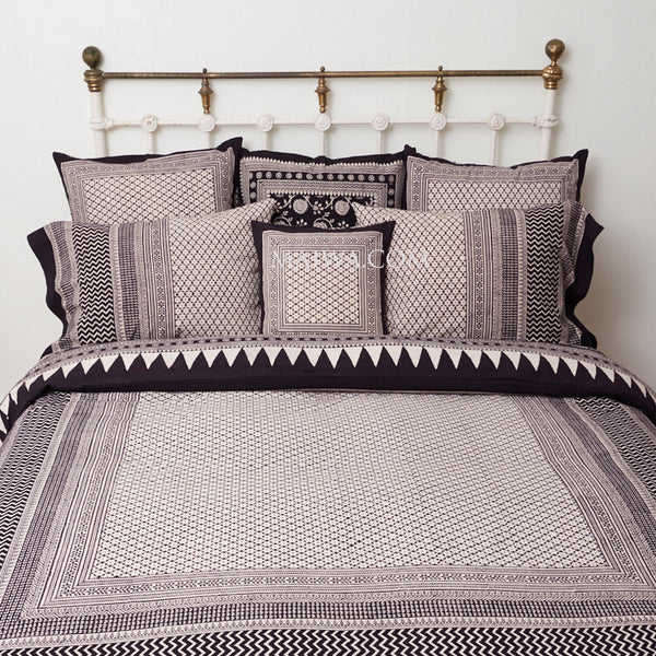 Organic Cotton King Duvet - Bagh Print - Diamond