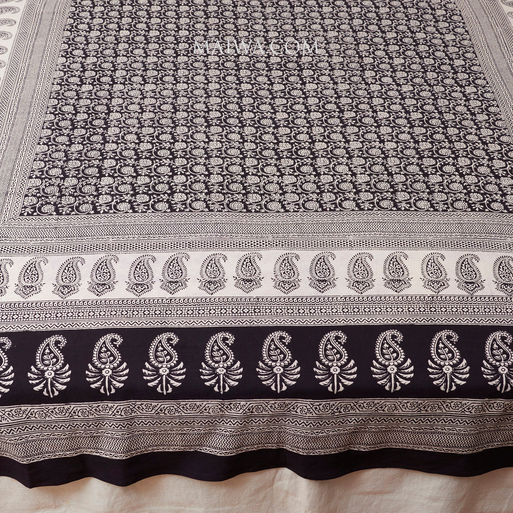Organic Cotton Rectangular Tablecloth - Bagh Print - Small Floral