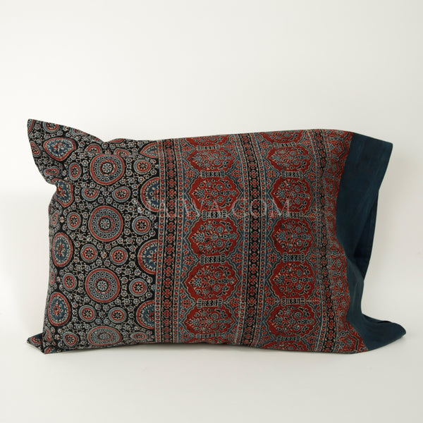 Organic Cotton Pillow Case - Ajrakh Classic