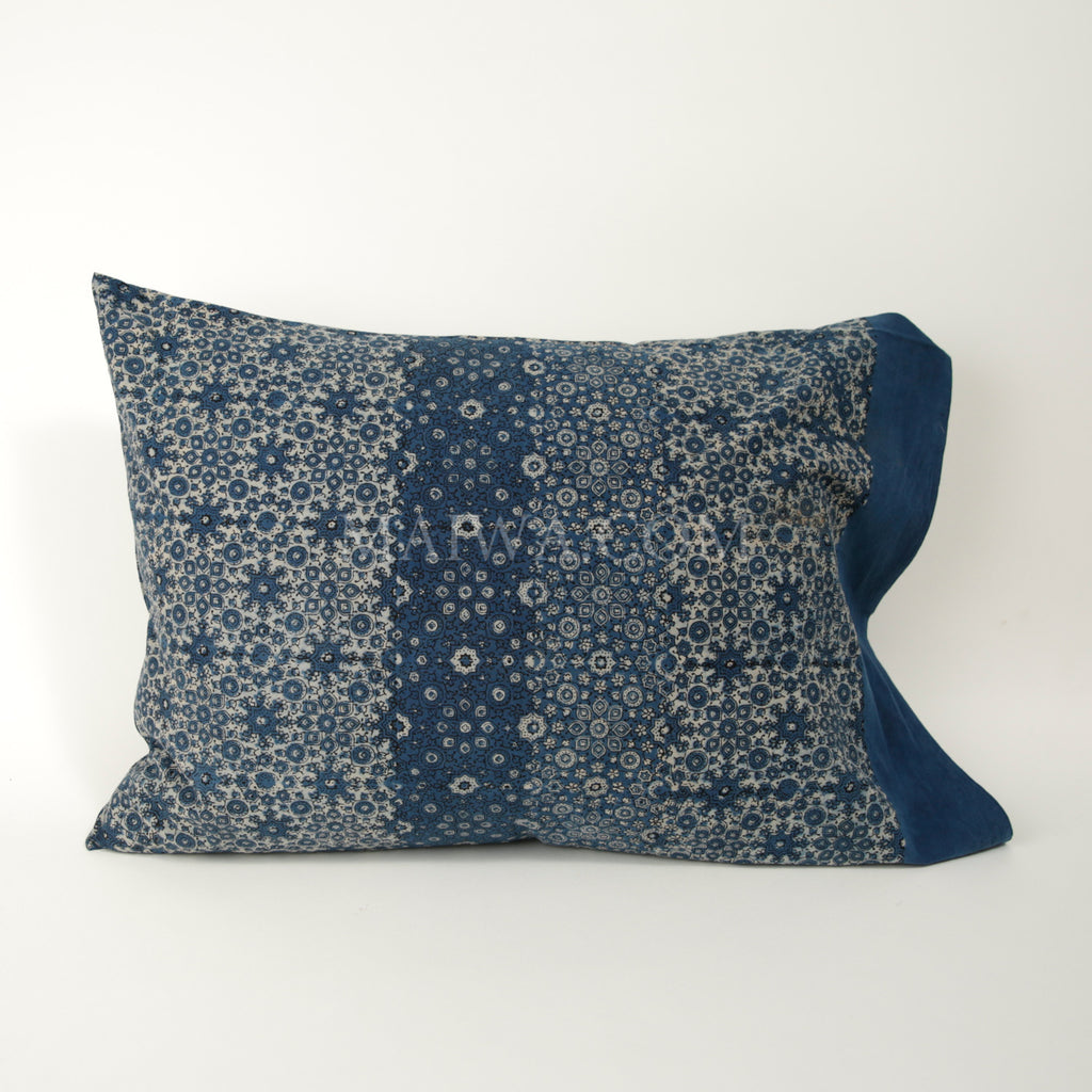 Organic Cotton Pillow Case - Ajrakh Crystallized