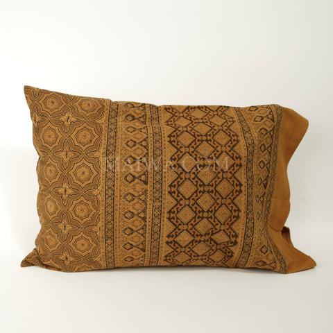 Organic Cotton Pillow Case - Ajrakh Tile