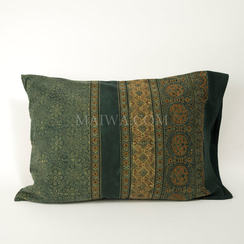 Organic Cotton Pillow Case - Ajrakh Patina